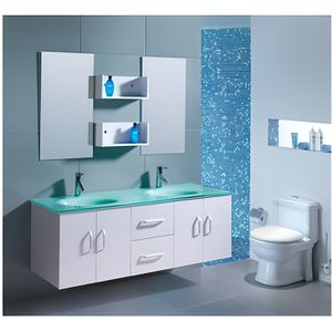 SALLE DE BAIN COMPLETE Le Cupidon Blanc : Ensemble salle de bain , 2 vasq