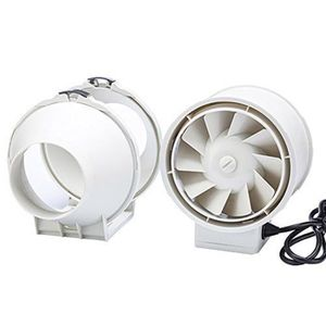 Ventilateurs TT-100-T TT Ventilateur extracteur /à flux mixtes en ligne avec minuteur de 100/mm 1/Blanc
