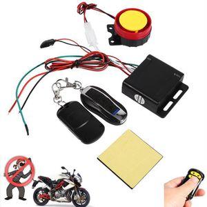 ALARME VEHICULE 12V Alarme Antivol de Moto Sécurité Système d'Alar