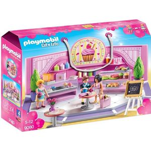 UNIVERS MINIATURE PLAYMOBIL 9080 - City Life - Le Café Cupcake