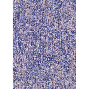 Kit papier créatif Feuille Decopatch n°477, Craquelures Violet et Or,