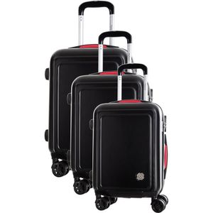 SET DE VALISES COCONUT Set de 3 Valises 8 Roues S/M/L Noir