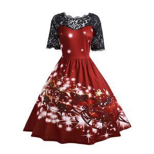 ROBE Robe de fête de Noël pour femme@Bourgogne