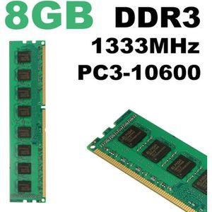 MÉMOIRE RAM 8GO 8GB Mémoire RAM DDR3 PC3-10600 DIMM 240PIN 133