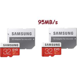 CARTE MÉMOIRE 2pcs Carte Mémoir Samsung Evo Plus 32 Go Micro sd
