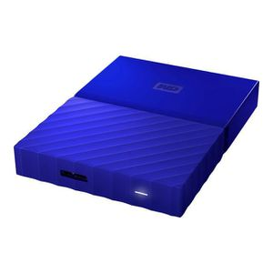 DISQUE DUR EXTERNE WESTERN DIGITAL My Passport - 1To - Bleu