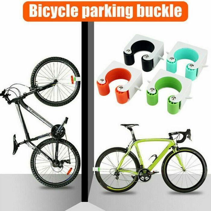 Porte-vélo Râtelier vélo Range vélo Rangement pour vélo Support pour Bicyclette Sol support mural de vélo de route vert