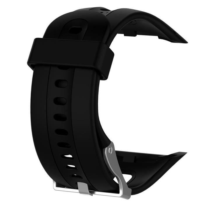 bracelet de montre vendu seul Dragonne de remplacement Silicagel Soft Band Strap pour Garmin Forerunner 10 BK TZZ70830662BK_wat