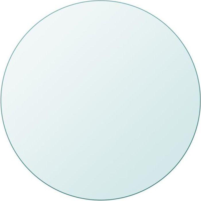 Plateaux de table Dessus de table ronde en verre trempe 300 mm