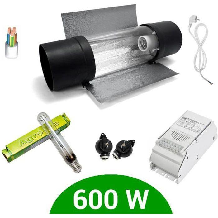 Kit lampe 600W HPS Agrolite + ETI class 1 + Cooltube Protube