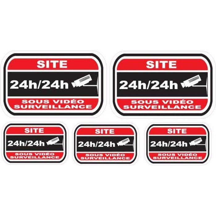 Lot de stickers vidéosurveillance -Site-