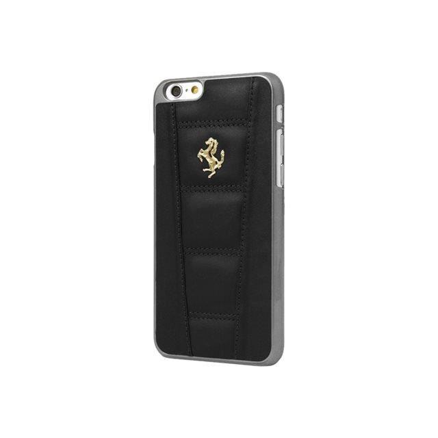 Ferrari 458 Coque pour iPhone 6 Plus/6S Plus Cuir Logo Effet Or Noir