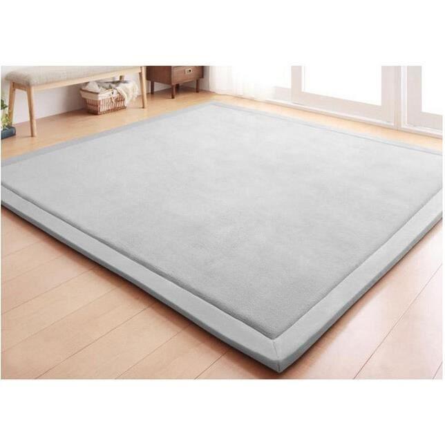 Tapis d'éveil,Nouveau 2CM épais tapis de jeu corail polaire couverture tapis enfants bébé rampant tatami tapis - Type 80cm 200cm #C