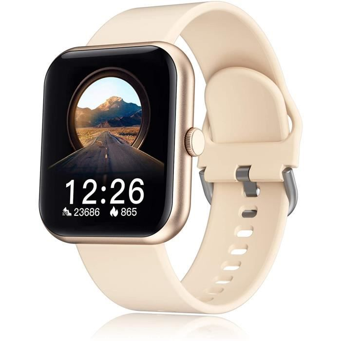Montre connectée pour homme, femme, Bluetooth, moniteur de fréquence cardiaque, étanche, IP67, montre de sport, calories, pour Andro