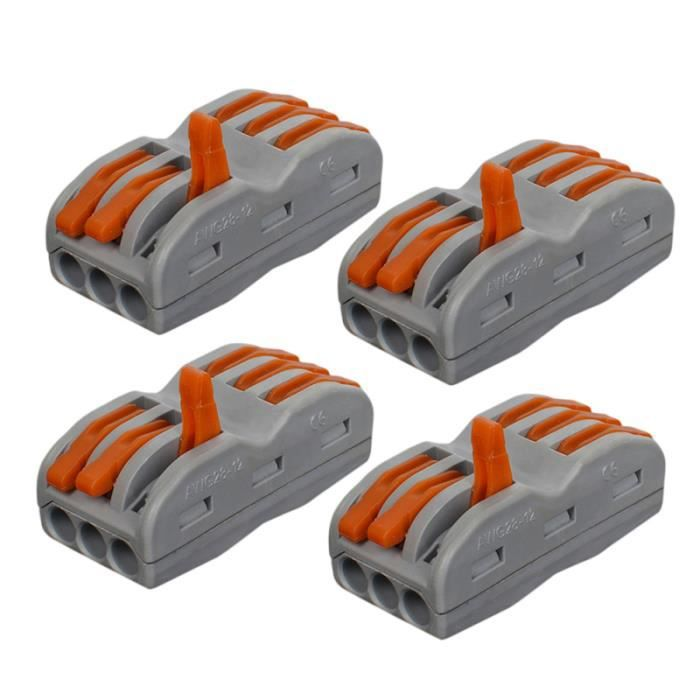 10 pcs SPL-3 Universal 3 Pin Compact Câblage Bornier Mini Connecteur Rapide Conducteur À Pousser Wago Fil TERMINALS - WIRES