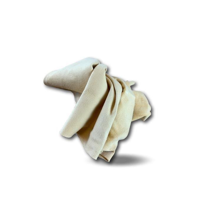 Peau de chamois - Chiffon de nettoyage - Lustrage et séchage voiture moto - Astiquage appareils ménagers vitres miroirs - PCHAM01