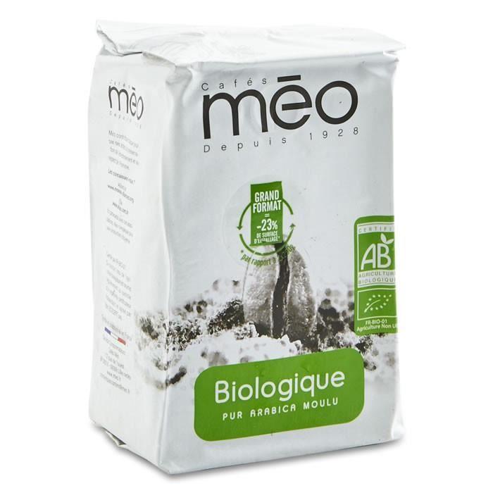 LOT DE 8 - MEO : Café pur Arabica moulu bio 500 g