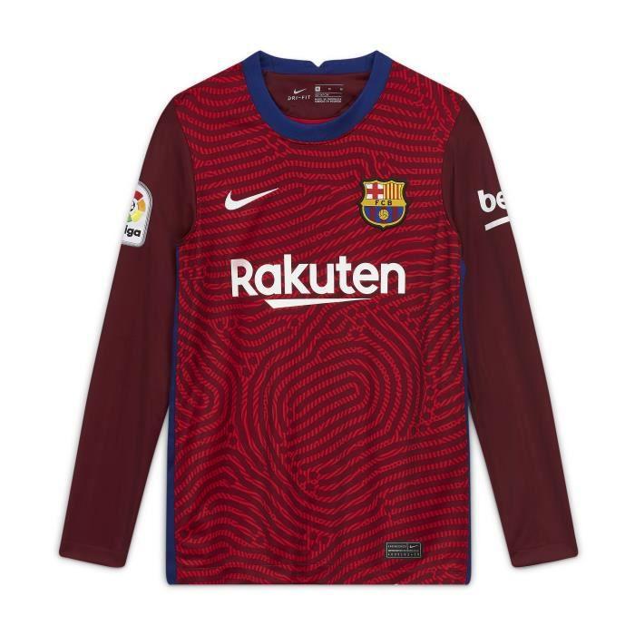 Maillot junior gardien Barcelone 2020/21 - rouge université/rouge intense/blanc - 12/13 ans