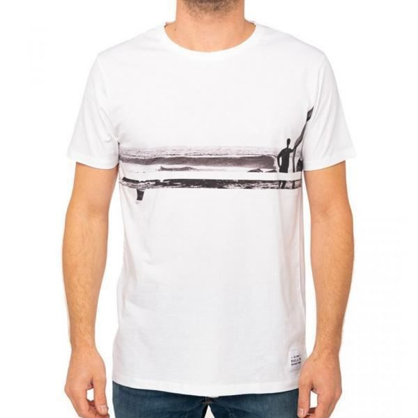 PULL IN T-shirt Col rond Homme Coton LINESURF Blanc