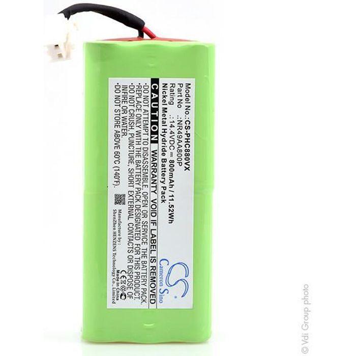 Batterie aspirateur 14.4V 800mAh - NR49AA800P