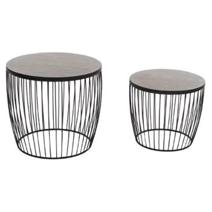 Set de 2 Tables d'Appoint Design -Modern' Noir