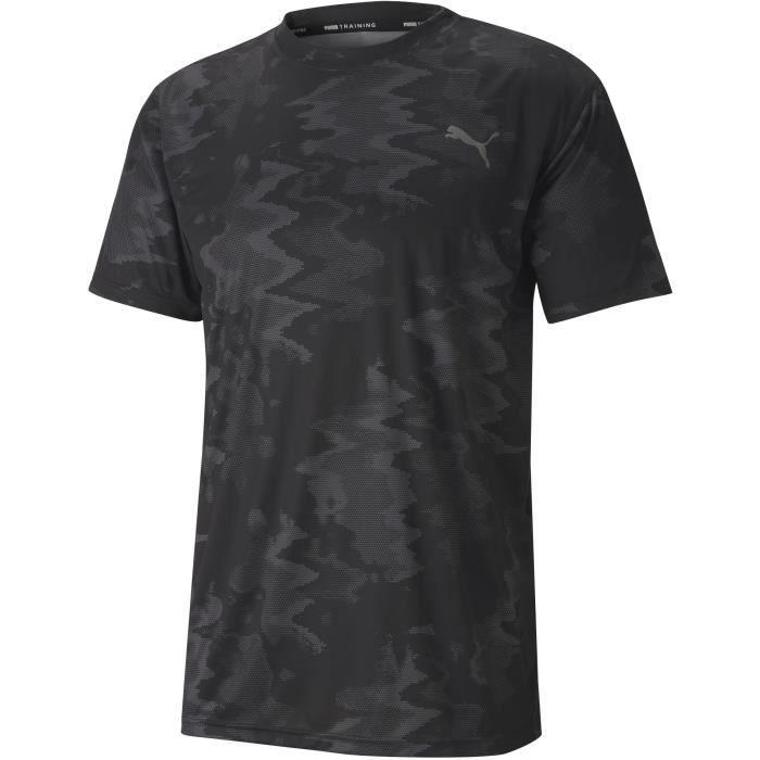Tee-shirt homme - PUMA - Performance AOP - Noir