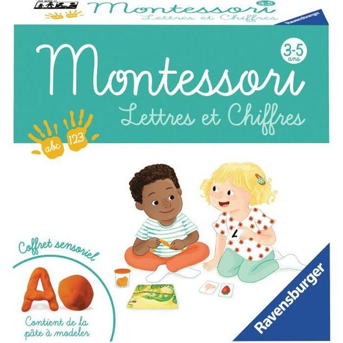RAVENSBURGER Jeu éducatif Montessori Lettres et Chiffres - 3-5 ans