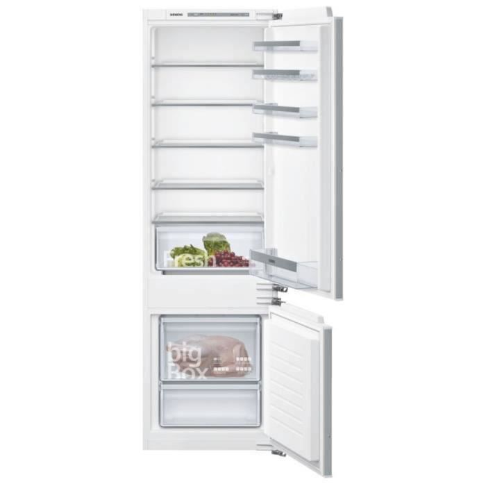 SIEMENS KI87VVFF0 Réfrigérateur combiné intégrable - 272L (209+63) - IQ300 - 177x54cm - Blanc