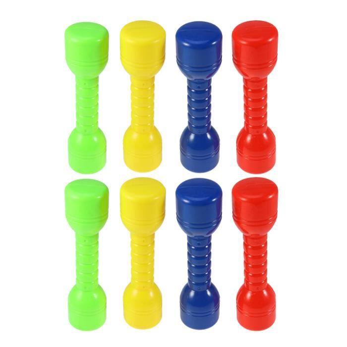 8 pièces enfants haltères sans odeur lisse outils d'exercice cadeau équipements d'entraînement physique BARRE - HALTERE - POIDS