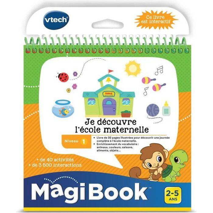 VTECH - Livre Interactif Magibook - Je Découvre L'École Maternelle
