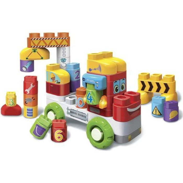 VTECH - Bla Bla Blocks - Mon Camion 1,2,3 Interactif - Blocs Parlants à Connecter