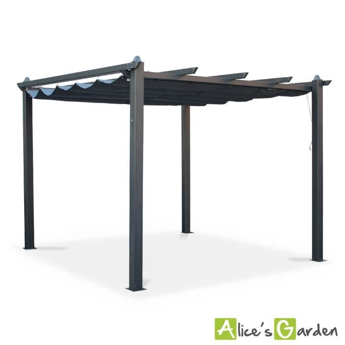 tente de jardin pergola aluminium 3x3m condate achat. Black Bedroom Furniture Sets. Home Design Ideas