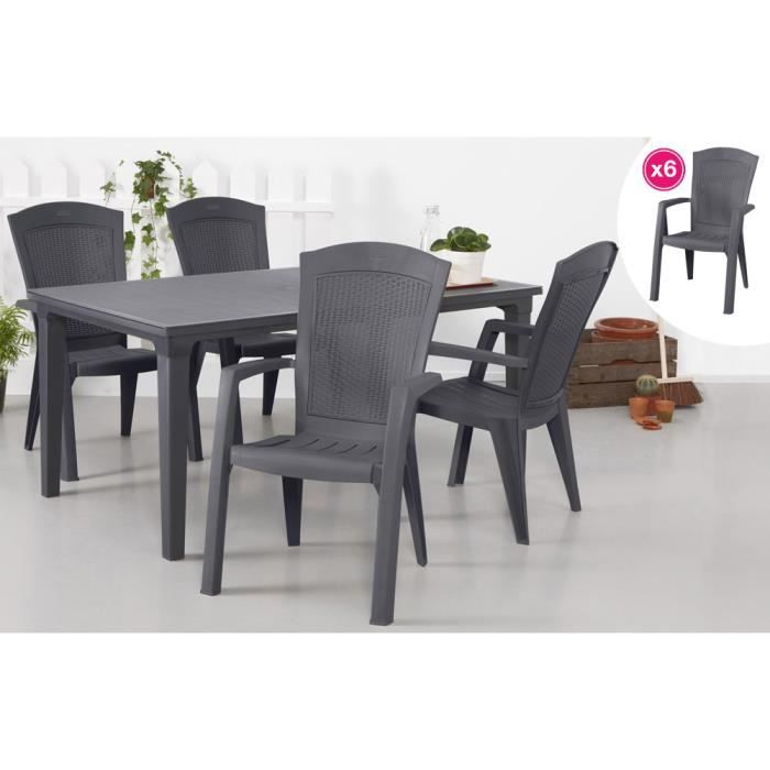 Awesome fauteuil salon de jardin allibert images design - Salon de jardin allibert new york gris anthracite ...
