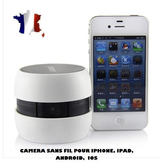 cam ra sans fil ip wifi pour iphone tablette android ios baby monitor espion achat vente. Black Bedroom Furniture Sets. Home Design Ideas