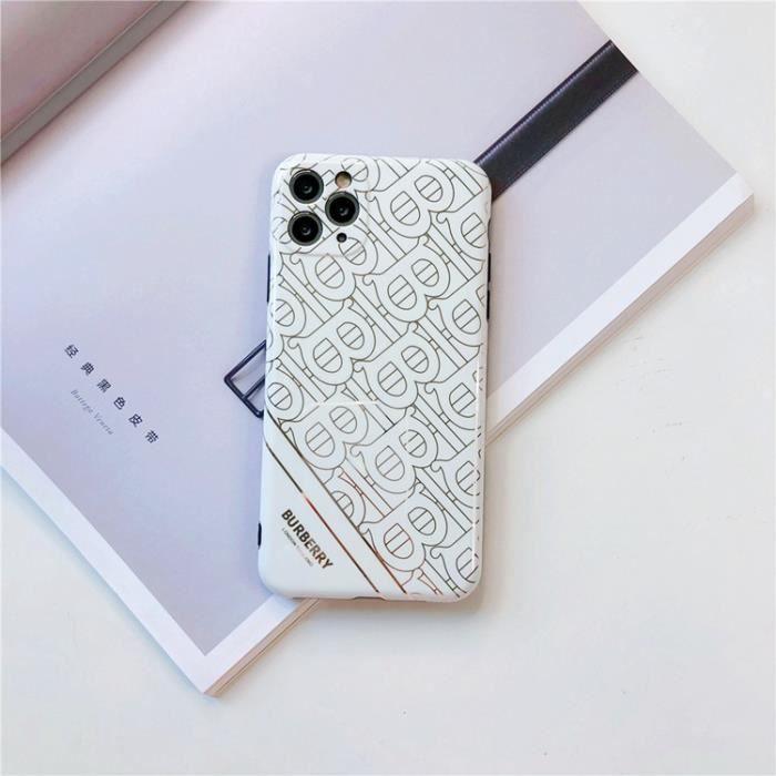 Coque iPhone 6S Plus-6 Plus,Burberry Blanc Dorure Ultra Slim ...