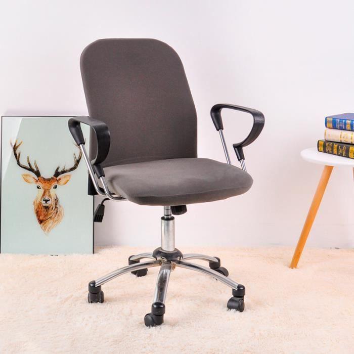 Cysincos Housse de Chaise de Bureau D/émontable Housses de Fauteuil Extensible Universelle Protecteur Chaise Slipcover Chair Cover