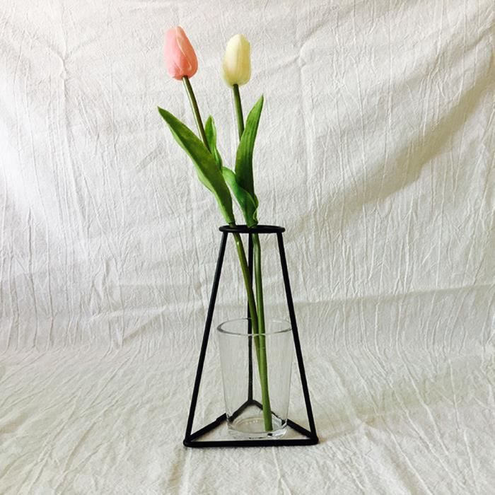 VASE - SOLIFLORE New Nordic Minimalist Abstract Vase Black Iron Bri