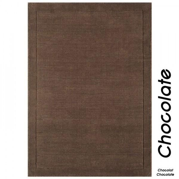 tapis contemporain chocolat en laine uni york c achat vente tapis cdiscount. Black Bedroom Furniture Sets. Home Design Ideas