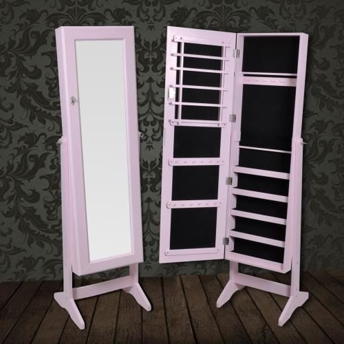armoire range bijoux avec miroir int gr e achat vente. Black Bedroom Furniture Sets. Home Design Ideas