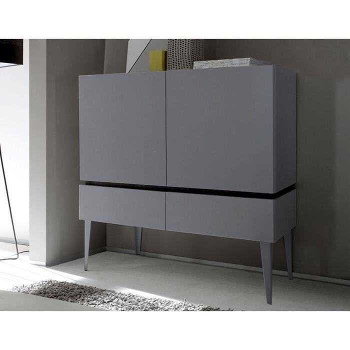 buffet gris mat ou blanc mat laqu contemporain legos 3. Black Bedroom Furniture Sets. Home Design Ideas