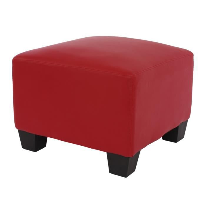 canap l ment pouf repose pied lyon modulaire pu rouge achat vente canap sofa divan. Black Bedroom Furniture Sets. Home Design Ideas