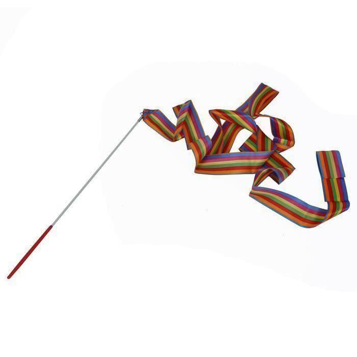 Beige Clair Keahup Kofun Canne /à Banderole de Gymnastique 4 m Ruban de Danse Gym Art Rythmique Balet Streamer Populaire