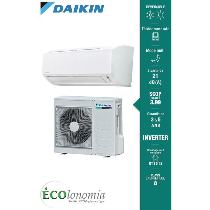 climatisation r versible daikin ftxn50mb rxn50mb monosplit mural r versible inverter. Black Bedroom Furniture Sets. Home Design Ideas