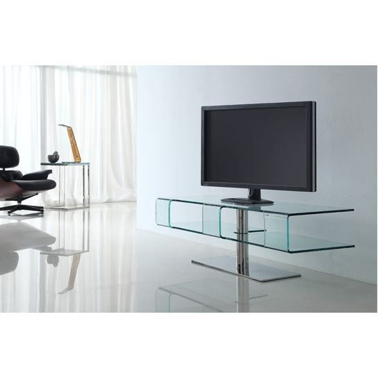 table tv verre design. Black Bedroom Furniture Sets. Home Design Ideas