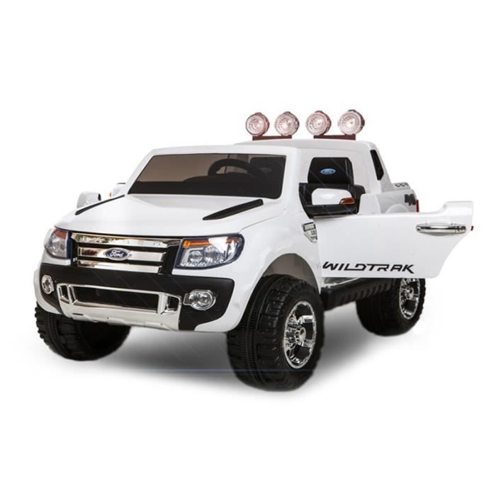 voiture lectrique pour enfant ford ranger 2 x 35 w 12v blanc achat vente voiture enfant. Black Bedroom Furniture Sets. Home Design Ideas