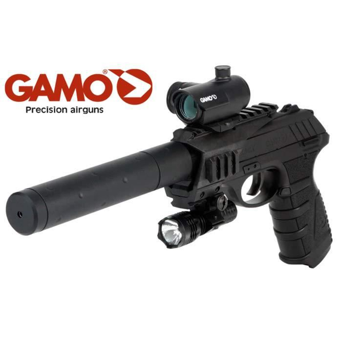AIRSOFT - ARME A BILLE PT 25 TACTICAL Blow Back CO2 Cal 4.5 (.177)