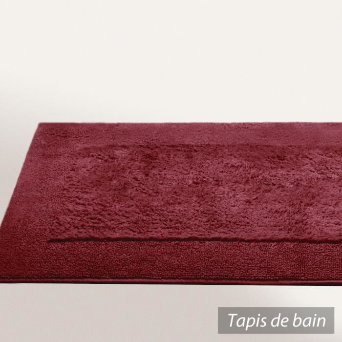 tapis de bain 70x120 cm dream rouge bordeaux 20 achat vente tapis de bain cdiscount. Black Bedroom Furniture Sets. Home Design Ideas