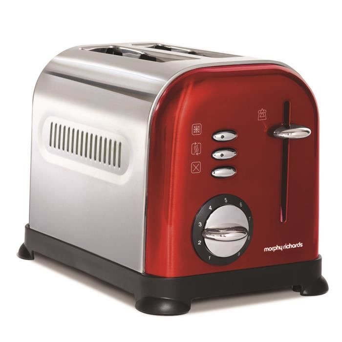 grille pain morphy richards accent rouge 44742 achat vente grille pain toaster cdiscount. Black Bedroom Furniture Sets. Home Design Ideas