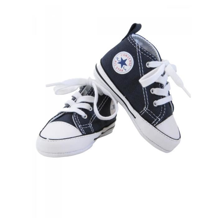 6b136be76c027 CONVERSE - Baskets All star toile bleu marine bébé fille Converse ...