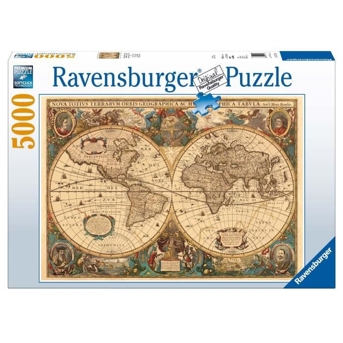PUZZLE Ravensburger - 17411 - Puzzle - 5000 Pièces Mappem